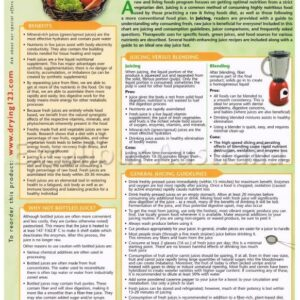 Juicing Information Chart