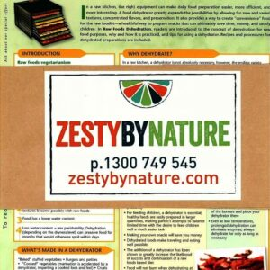 Raw Foods Vegetarianism – Information Chart 8 Combo Pack